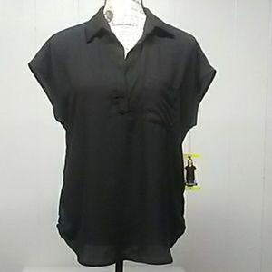 NWT Pleione Black Ladies Blouse. Sz. S